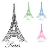Het Pictogram van de Toren van Parijs Eiffel Stock Afbeeldingen
