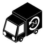 het pictogram van de 24 uurlevering, eenvoudige stijl Royalty-vrije Stock Afbeeldingen