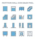Het pictogram van de verdelingsmuur Stock Afbeelding