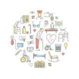 Het pictogram van de Verpleeghuislijn Royalty-vrije Stock Foto