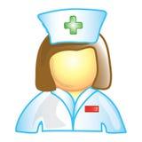 Het pictogram van de verpleegster Stock Afbeeldingen