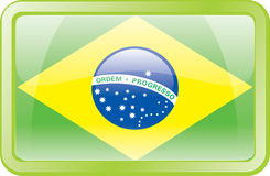Het Pictogram van de Vlag van Brazilië Royalty-vrije Stock Afbeelding