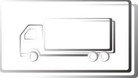 Het pictogram van de vrachtwagen in frame Royalty-vrije Stock Afbeeldingen