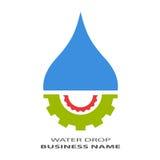 Het pictogram van de waterdaling Stock Foto's