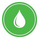 Het pictogram van de waterdaling Stock Afbeelding