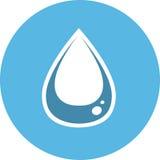 Het pictogram van de waterdaling Scheursymbool Royalty-vrije Stock Foto's