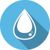 Het pictogram van de waterdaling Scheursymbool Stock Foto