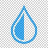 Het pictogram van de waterdaling in vlakke stijl Regendruppel vectorillustratie op I vector illustratie