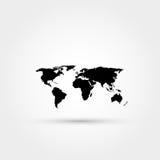 Het pictogram van de wereldkaart Royalty-vrije Stock Afbeelding