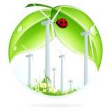Het Pictogram van de windenergieinstallatie Stock Foto's