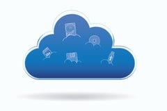 Het pictogram van de wolkenopslag Vector Illustratie