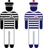 Het pictogram van de zeeman Royalty-vrije Stock Afbeelding