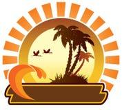 Het pictogram van de zomer - eiland Stock Foto's