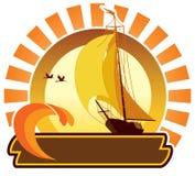 Het pictogram van de zomer - schip royalty-vrije illustratie