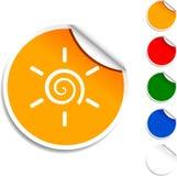 Het pictogram van de zon. Stock Fotografie
