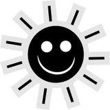 Het Pictogram van de zon Stock Afbeeldingen