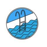 Het pictogram van de zwembadladder Stock Foto