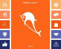 Het pictogram van het dolfijnsymbool stock illustratie