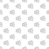 Het pictogram van dollarrekeningen in overzichtsstijl Royalty-vrije Stock Afbeeldingen