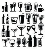 Het pictogram van dranken Stock Afbeeldingen
