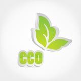 Het pictogram van Eco. Stock Foto's
