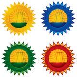 Het pictogram van Energa en van de macht Stock Foto
