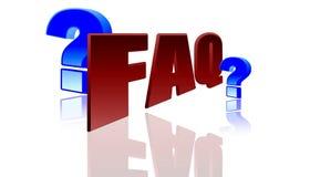 Het pictogram van Faq Stock Foto's
