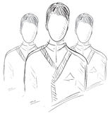 Het pictogram van gebruikersgroepmensen Stock Afbeeldingen