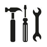 Het pictogram van hamer turnscrew hulpmiddelen Stock Afbeeldingen