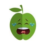 het pictogram van het appelbeeldverhaal royalty-vrije illustratie