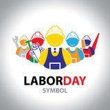 Het pictogram van het arbeidssymbool Vector ontwerp Het concept van de arbeidsdag Stock Fotografie