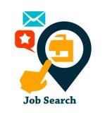 Het pictogram van het baanonderzoek Stock Foto