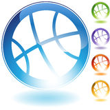 Het Pictogram van het basketbal Stock Afbeeldingen