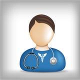 Het pictogram van het beroep - dokter royalty-vrije illustratie