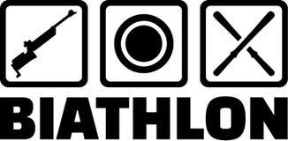 Het Pictogram van het Biathlonsymbool Stock Fotografie