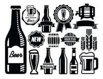 Het pictogram van het bier Stock Foto