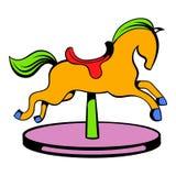 Het pictogram van het carrouselpaard, pictogrambeeldverhaal stock illustratie