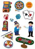 Het pictogram van het Casino van het beeldverhaal Stock Afbeeldingen