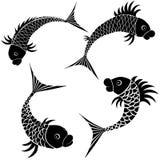 Het pictogram van het de schetsontwerp van vissen royalty-vrije illustratie