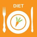 Het pictogram van het dieet. illustratie Stock Afbeeldingen