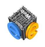 Het pictogram van het e-business Vector Illustratie