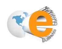 Het pictogram van het e-business Royalty-vrije Illustratie
