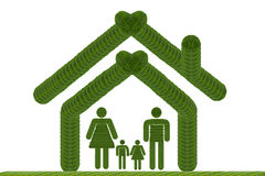 Het pictogram van het familiehuis Stock Afbeeldingen