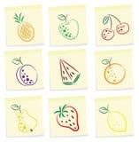 Het pictogram van het fruit Stock Afbeelding