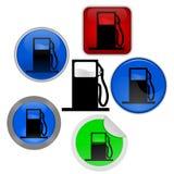 Het pictogram van het gas en van de benzine royalty-vrije illustratie