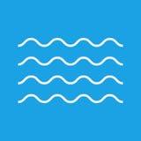 Het pictogram van het golvenoverzicht, moderne minimale vlakke ontwerpstijl Symbool van de golf het dunne lijn, illustratie Royalty-vrije Stock Afbeeldingen
