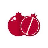 Het Pictogram van het granaatappelfruit Stock Afbeelding
