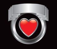 Het pictogram van het hart in zilveren vertoning vector illustratie
