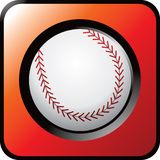 Het pictogram van het honkbal Stock Illustratie