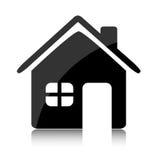 Het pictogram van het huis Stock Fotografie